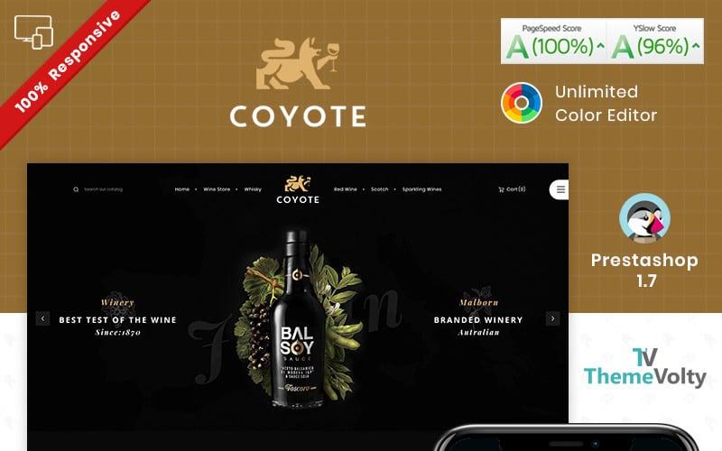 Covote Wine Alcohol Store PrestaShop Teması