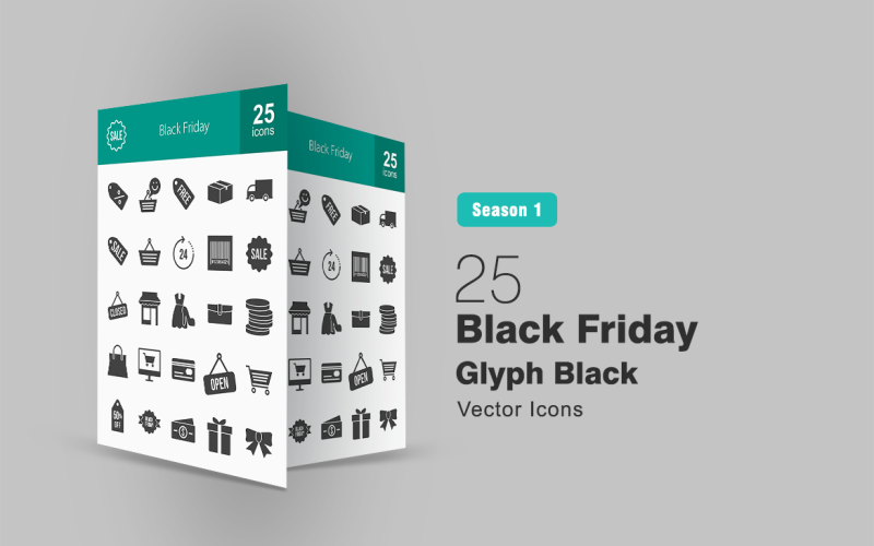 Набор 25 символов черной пятницы