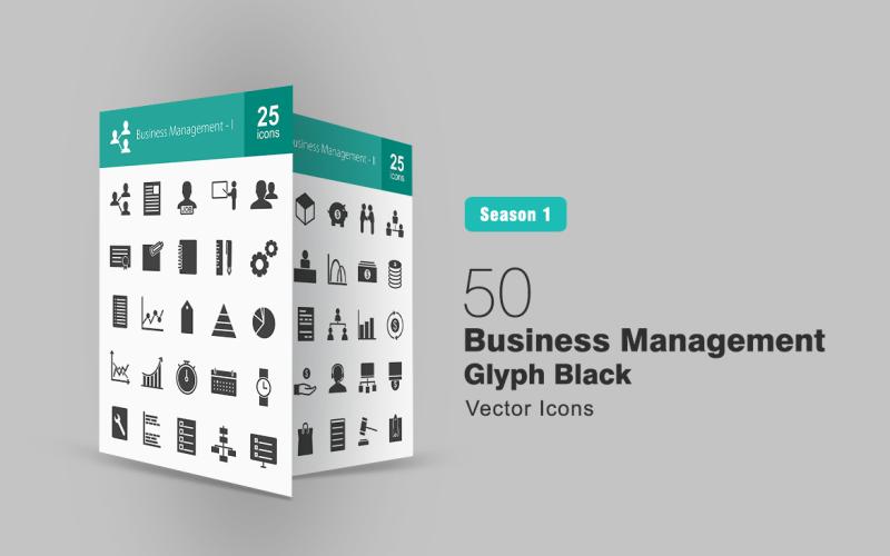 Набор иконок из 50 символов управления бизнесом