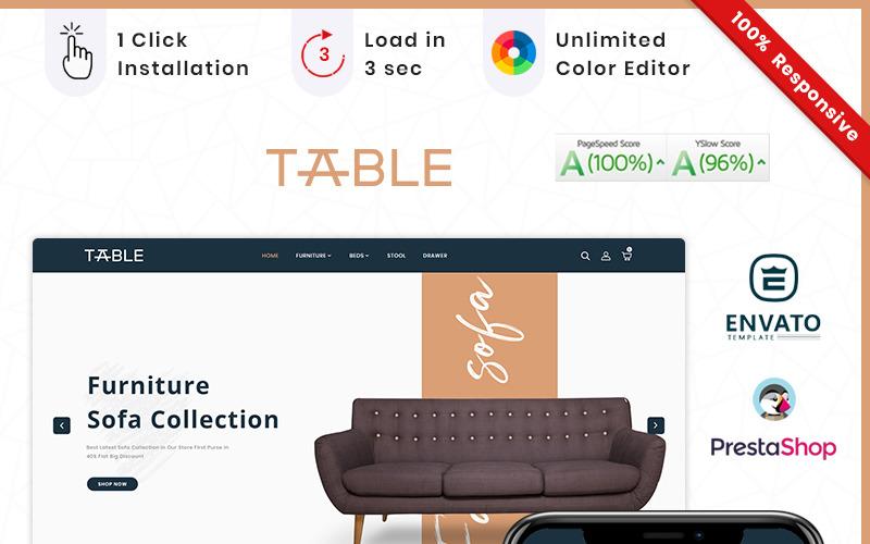 Furniture Table Mega Store PrestaShop Teması