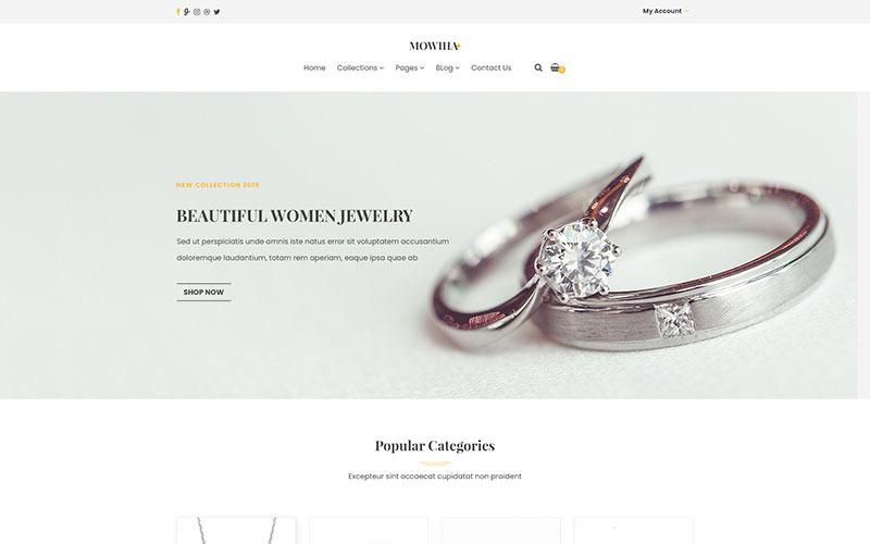 Biżuteria | Kreatywny uniwersalny szablon PSD