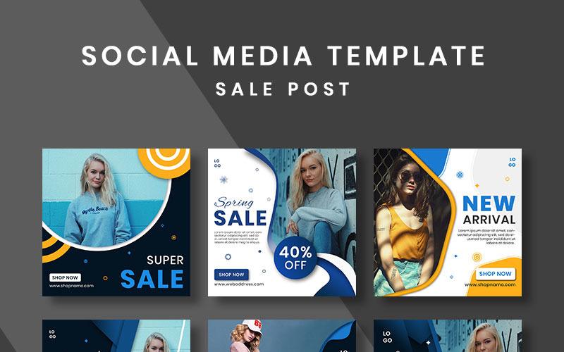 Modèle de médias sociaux de conception de publication de vente
