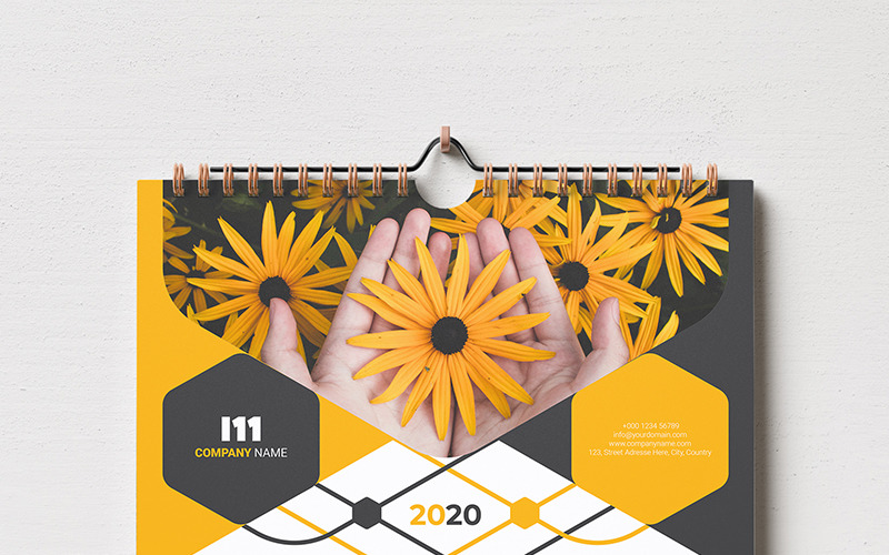 Calendar 2020 With 5 Color Styles - Corporate Identity Template