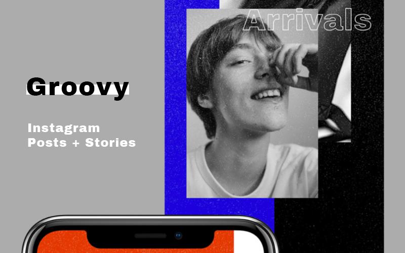 Groovy Pack sociale mediasjabloon