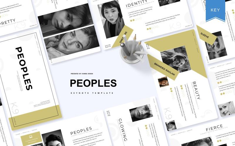 Peoples - šablona Keynote