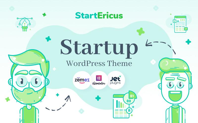 StartEricus - Schoon en minimalistisch startup-landingspagina WordPress-thema