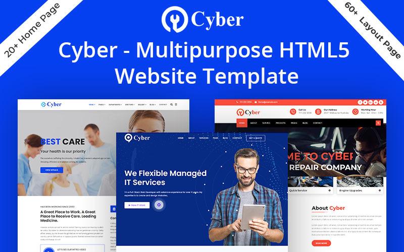 Cyber - Víceúčelová šablona webových stránek HTML5