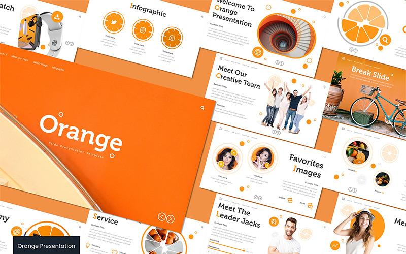 Orange - Keynote template