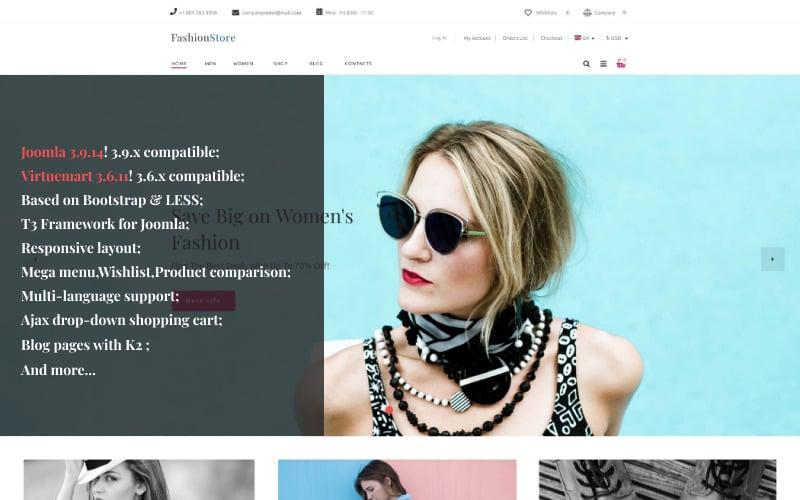 Modèle VirtueMart de magasin de mode
