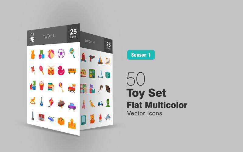 50 игрушек набор плоский многоцветный значок