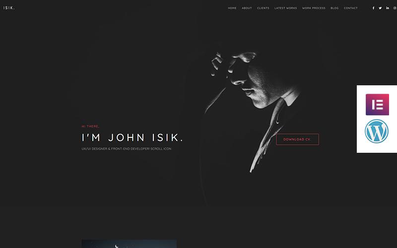 Isik - тема WordPress для целевой страницы личного портфолио