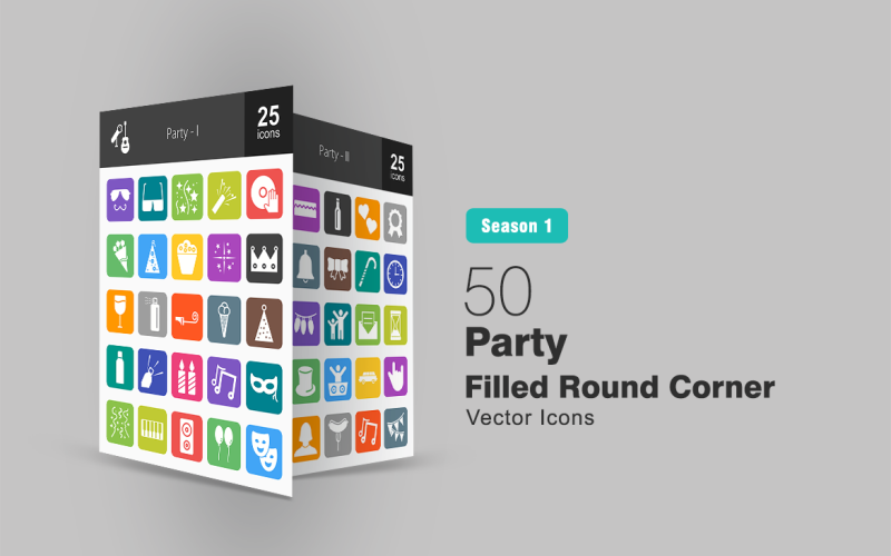 50 наборов иконок для фитнеса и спорта с закругленными углами
