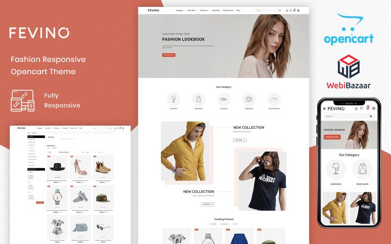 Fevino - Modèle OpenCart de magasin réactif de mode polyvalent