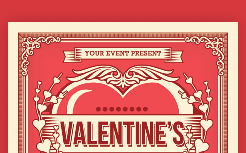 Valentines Day Dinner Flyer - Corporate Identity Template