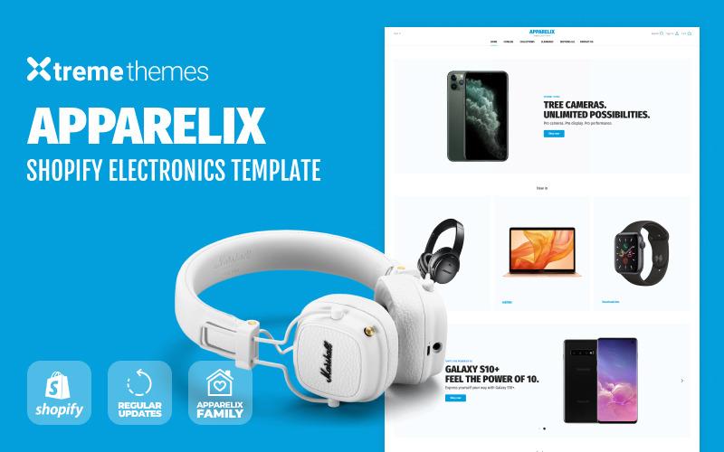 Loja de eletrônicos no Shopify - Tema Apparelix Shopify