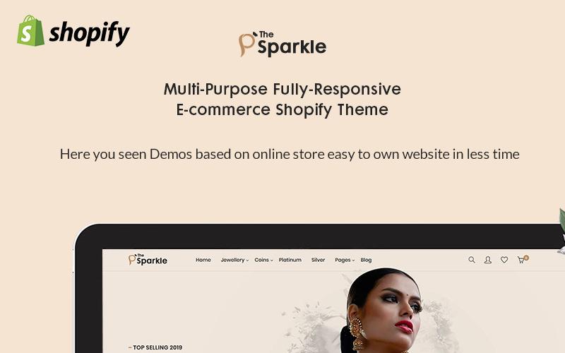 Sparkle - motyw Jewellery Premium Shopify
