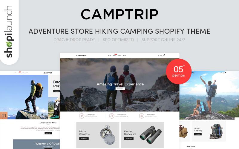 Camptrip - Motyw Shopify Adventure Store Piesze wycieczki i kempingi
