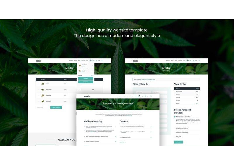 Oasis-大麻电子商务素描模板