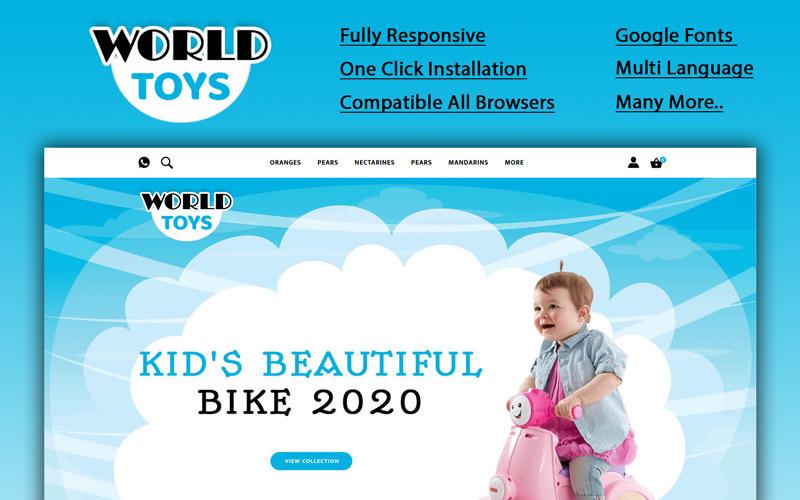 Worldtoys - OpenCart шаблон магазина игрушек