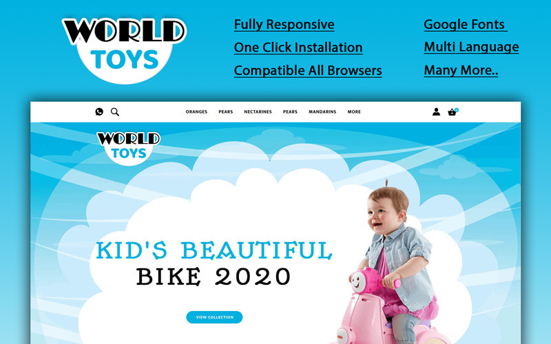 Worldtoys - Toy Store OpenCart-sjabloon