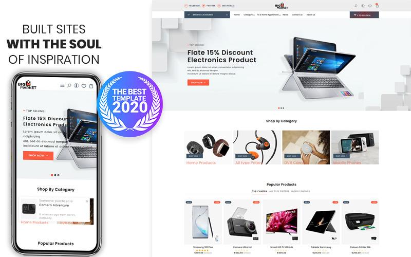 Bigmarket: el tema premium de Shopify para dispositivos electrónicos y teléfonos inteligentes