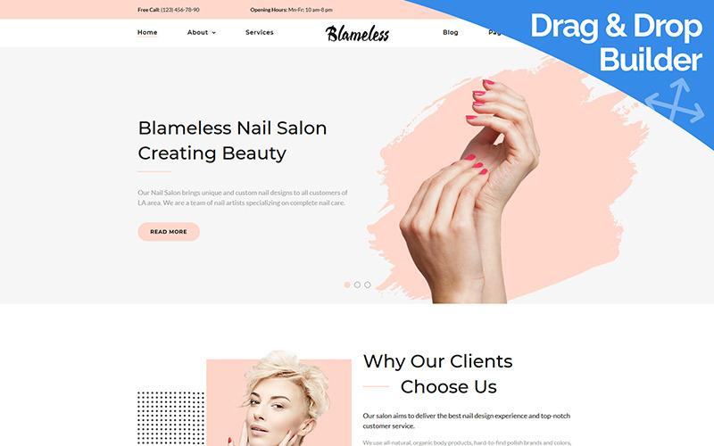 Blameless - Plantilla Nail Art Moto CMS 3