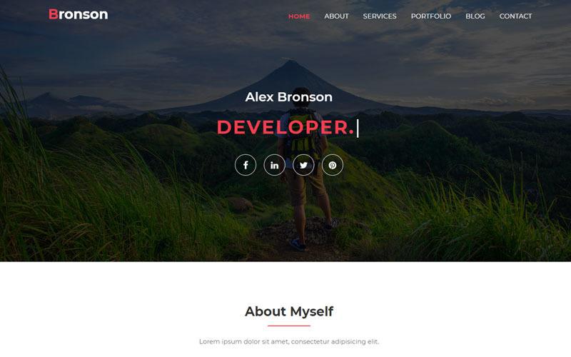 Bronson-Kişisel Portföy Açılış Sayfası Şablonu