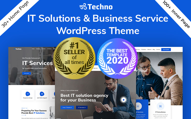 Techno-IT解决方案和多用途WordPress主题