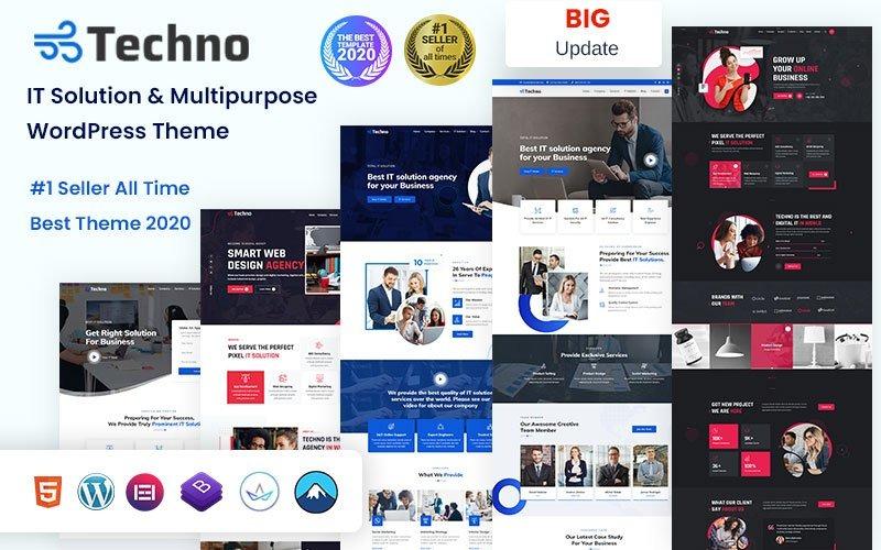 Techno - Solução de TI e tema WordPress multifuncional