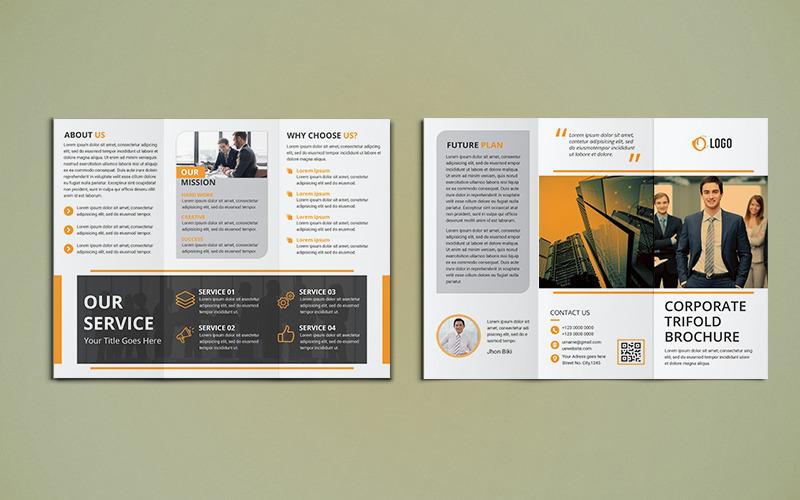 Üç Katlı Broşür Tasarımı - Kurumsal Kimlik Şablonu