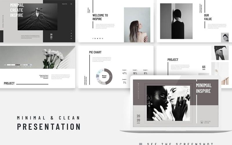 Inspire Minimal Clean Presentation PowerPoint Template