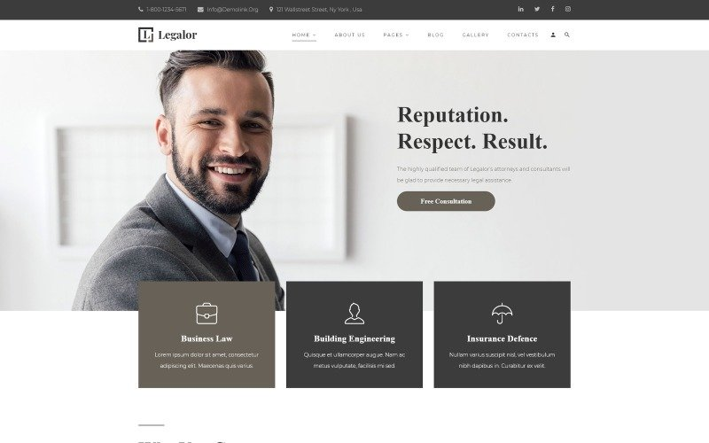 Legalor - Lawyer Multipage Clean Joomla Theme Joomla Template