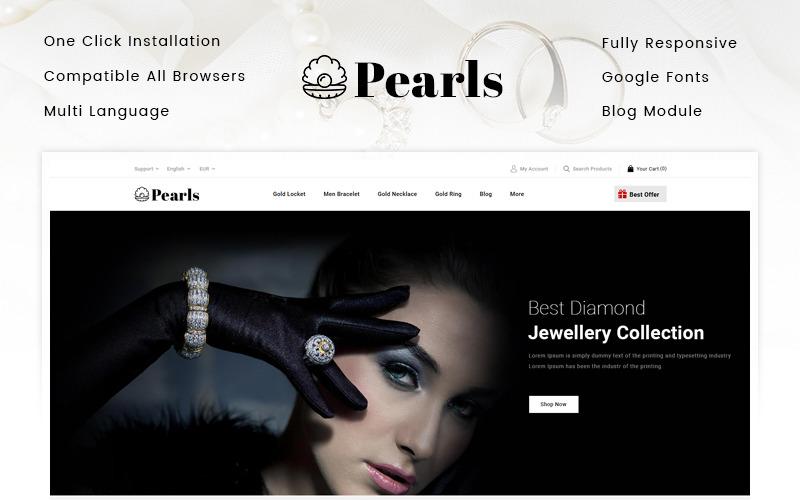 Перли - Тема ювелірного магазину PrestaShop