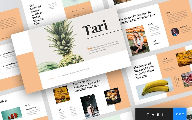 Tari - Food - Keynote template