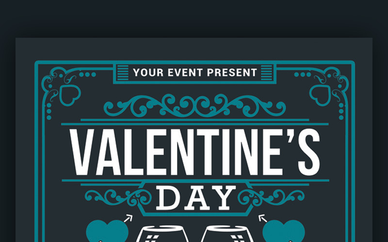 Valentines Day Dinner - Corporate Identity Template