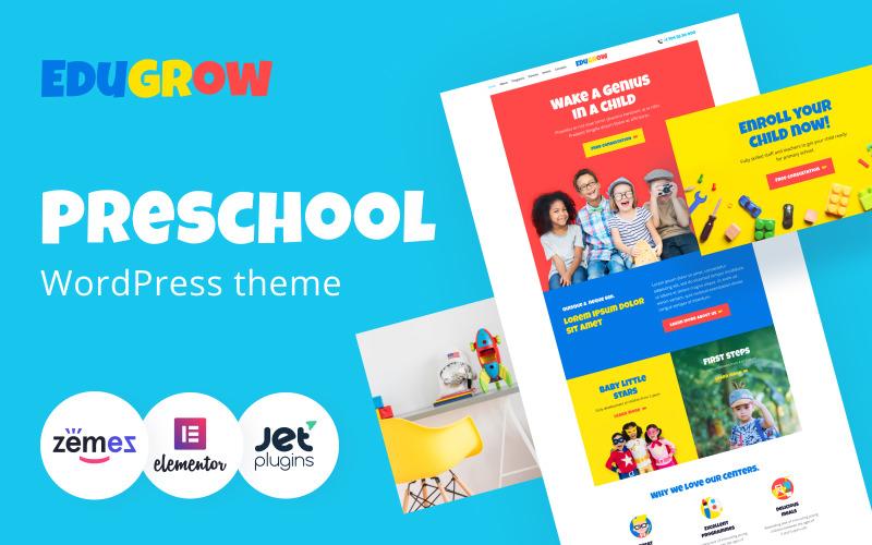 Edugrow - Tema WordPress pré-escolar com um tema WordPress de design vívido