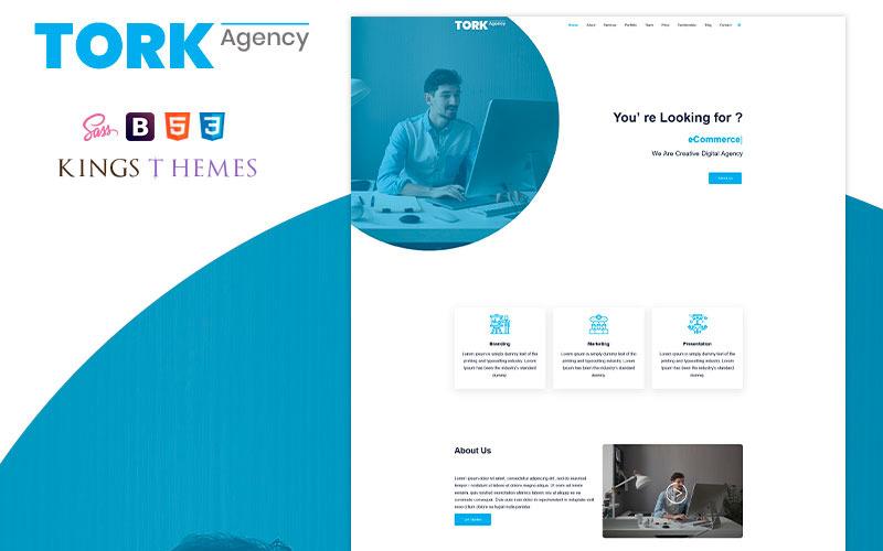 Tork Agency Landing Page Vorlage