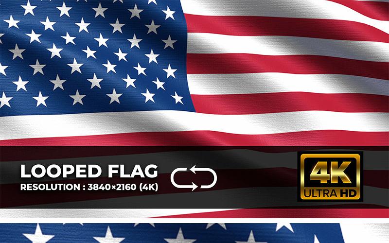 United States Looping Flag 4K Background