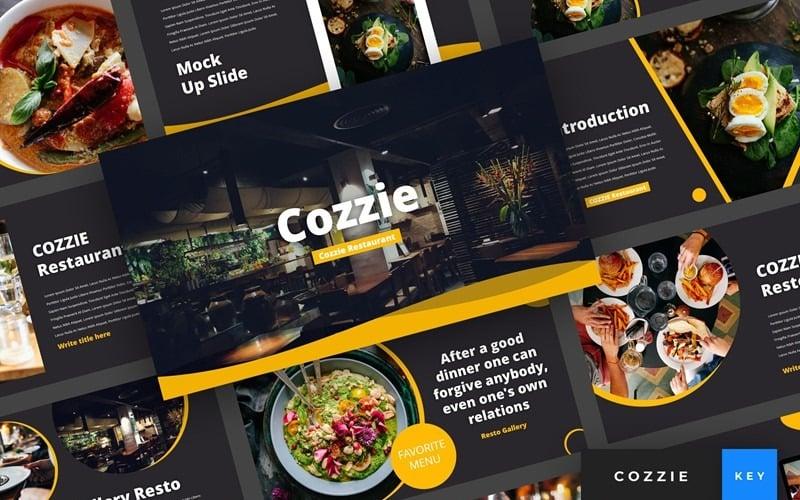 Cozzie - Restaurant - Keynote template