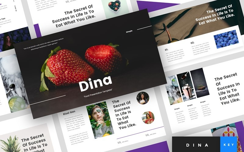 Dina - Food - Keynote template