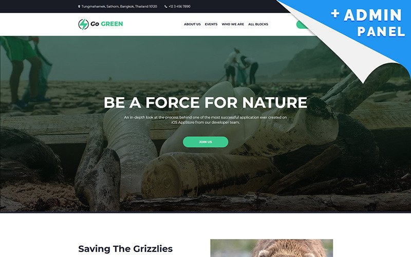 Go Green - Charity Landing Page Template