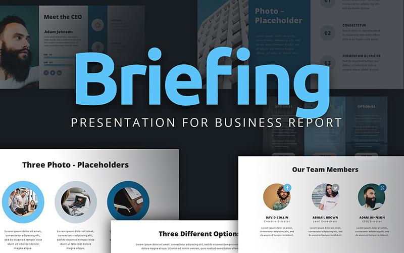 Stručná prezentace pro obchodní zprávu PowerPoint šablony