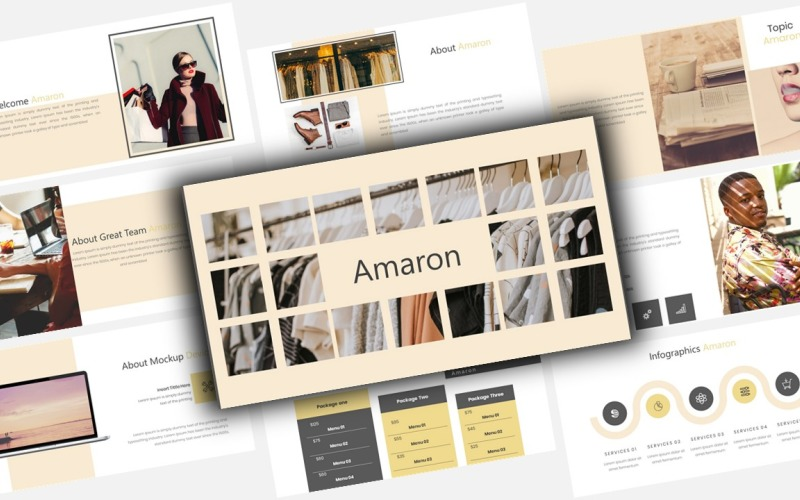 Amaron Creative Business PowerPoint Template