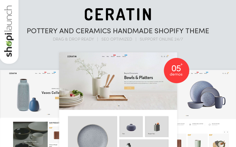 Ceratin - Pottery and Ceramics Handmade Shopify Theme