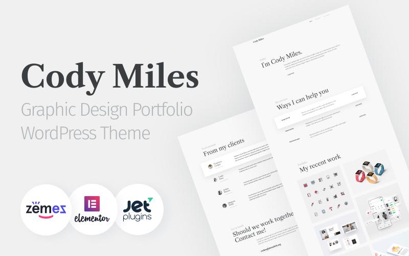 Codi Miles-用于发展业务WordPress主题的图形设计产品组合网站