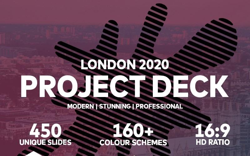 Modelo de PowerPoint do projeto Londres 2020