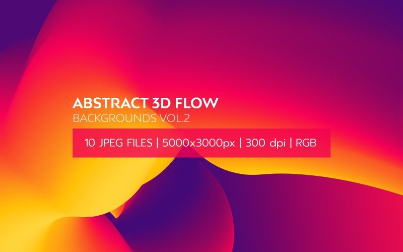 Abstract 3D Flow Vol.2 Background