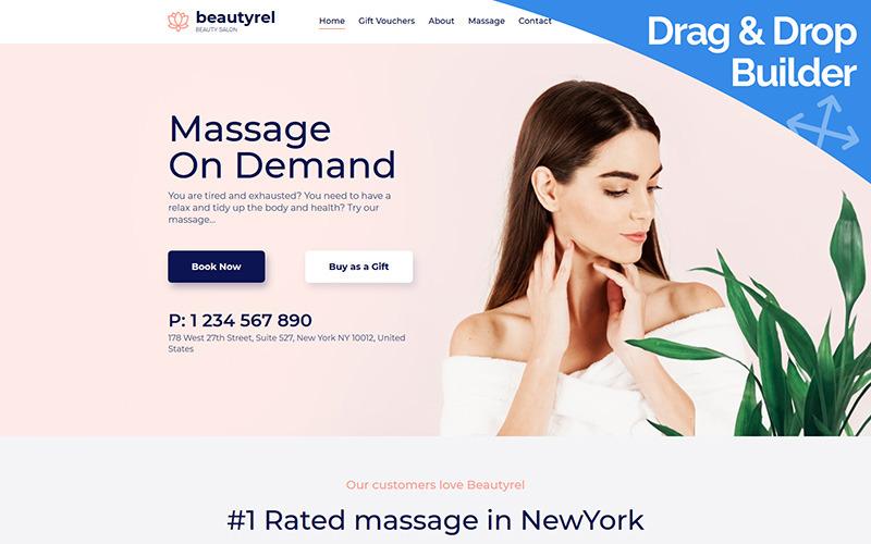 Beautyrel - Modèle Moto CMS 3 de thérapie relaxante