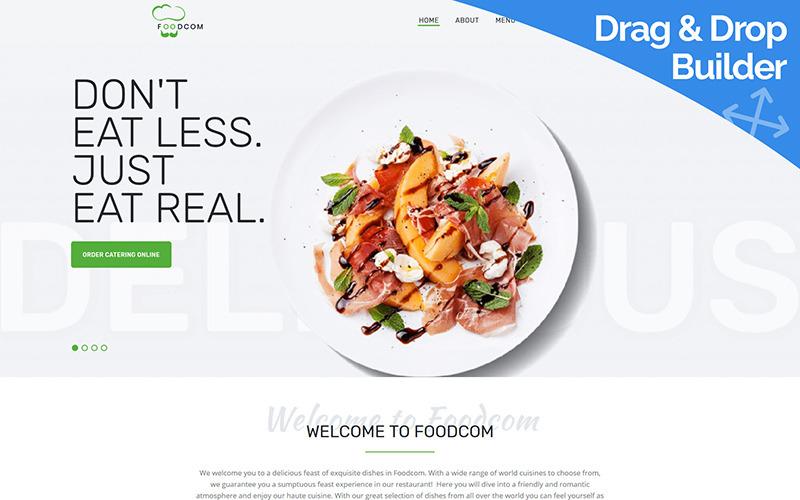 Foodcom - Modèle pour Restaurant Moto CMS 3
