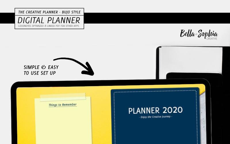 Navy Note - Taking Digital Planner